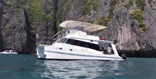 Private catamaran snorkeling charter to Racha Yai phuket