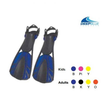 Speed 3 Fins - Adjustable (ideal for snorkeling)