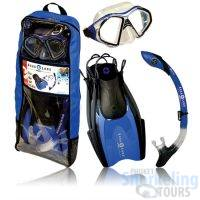 snorkeling travel set blue for adults