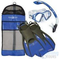 bora-set-blue - snorkeling equipment
