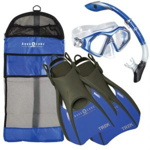 bora-set-blue - snorkeling equipment